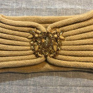 C.C. Knitted Headband with Jewels